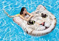 """Пляжный матрас """"Котик"""" INTEX 147х135см (Интекс) от 6 лет (до 120 кг) надувной плот для плавания"""