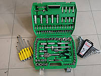 Набор инструментов 108ед + 12 комбинированных ключей+6 ударн отверток
