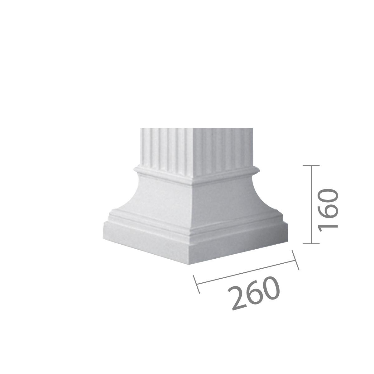 База колони б-10 (квадратна)