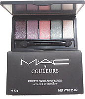 Тіні для повік Mac 5 Couleurs - 5 Відтінків . В наявності № 5, фото 1