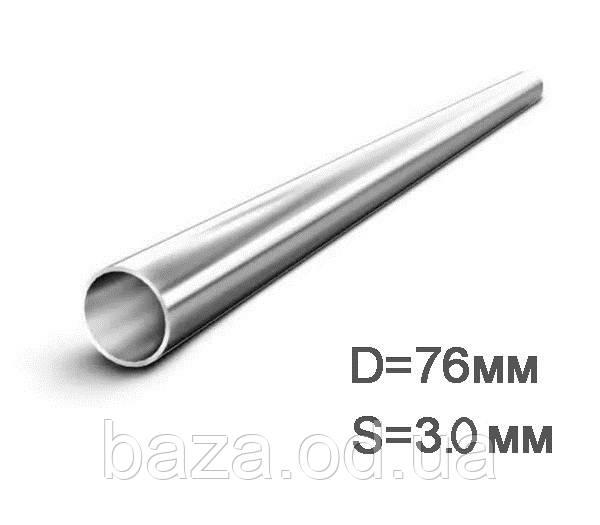 Труба металлическая круглая мера 76x3 мм сварная