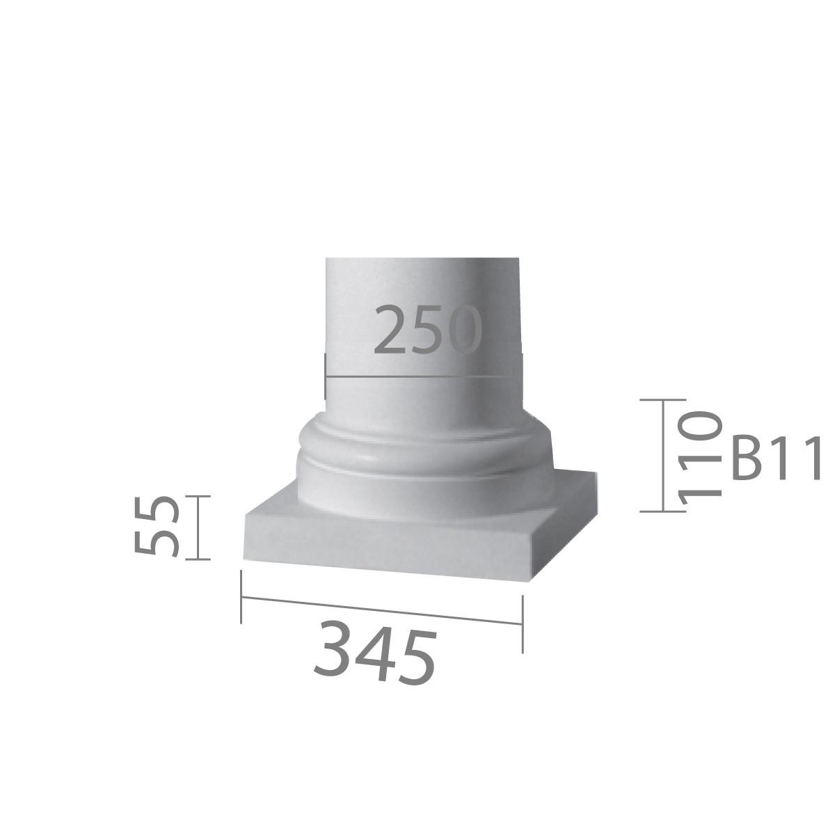 База колонны  б-11 1/2 (энтазис)
