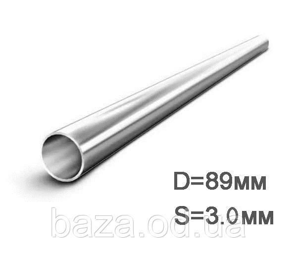 Труба металева кругла міра 89x3 мм зварна