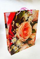 Бумажный подарочный пакет 31.5х40х9см / уп-12шт