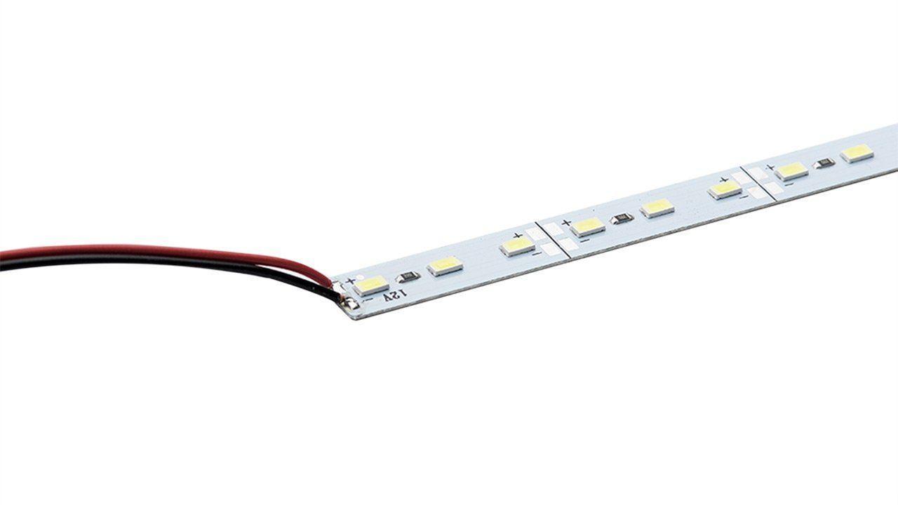 Светодиодная линейка PROLUM SMD 5630 72-LED 12V + 3М скотч PRO, Тепло-Белый (2800-3200K)