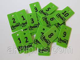 Номерки на ключ 40*80 мм