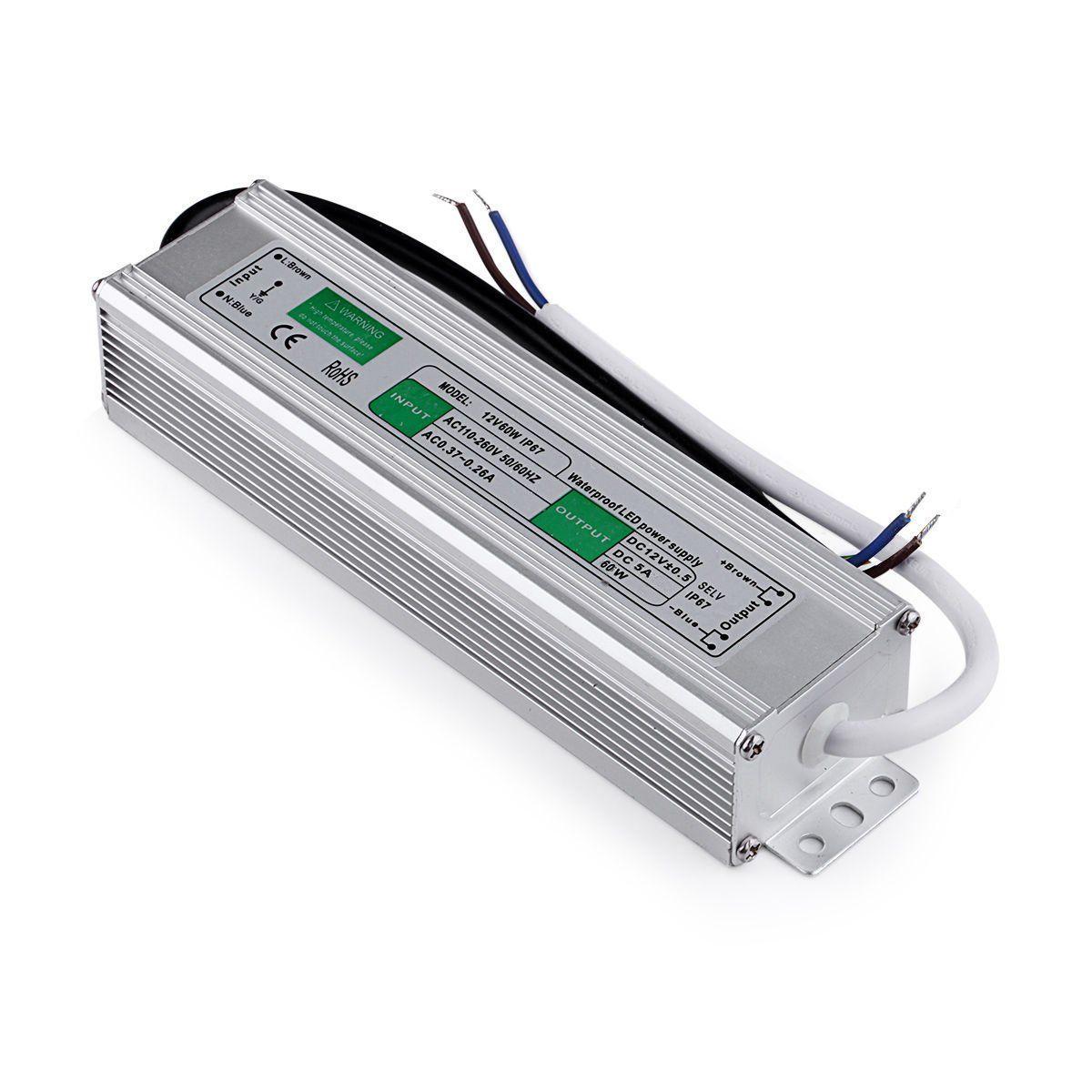 Блок питания импульсный PROLUM 60W 12V (IP67,5A)