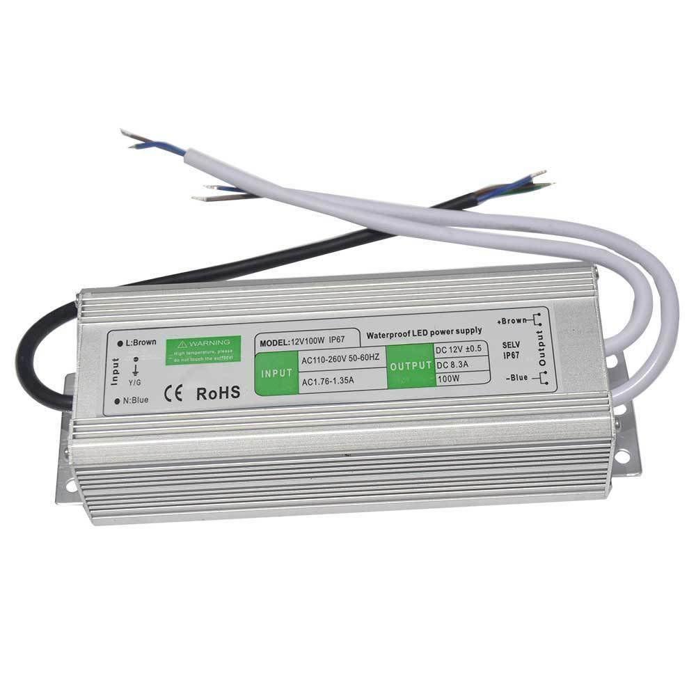 Блок питания импульсный PROLUM 100W 12V (IP67, 8,33А)