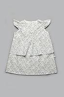 Летнее платье для девочки, хлопок, белое платье в мелкий цветочек