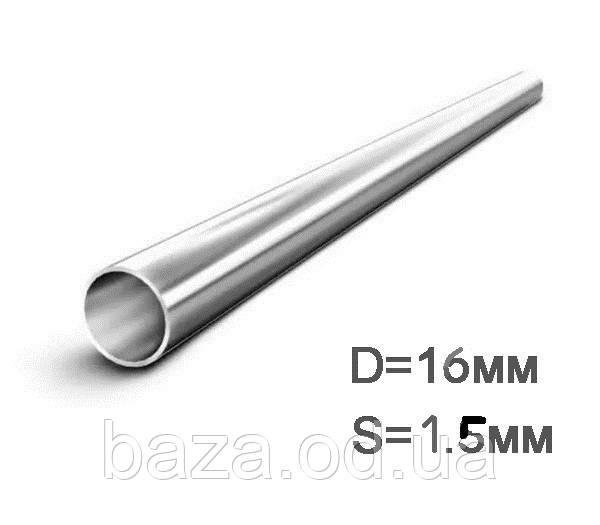 Труба металлическая круглая мера 16x1,5 мм сварная