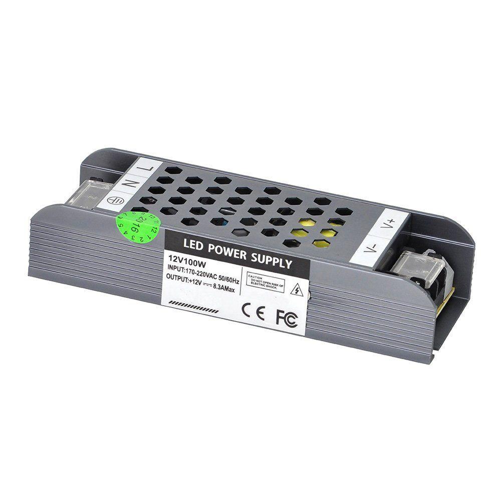 Блок питания импульсный PROLUM Slim 100W 12V (IP20, 8,3A) PRO
