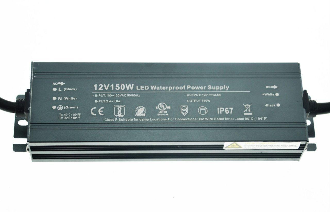 Блок питания импульсный PROLUM Slim 150W 12V (IP67, 12,5А) PRO