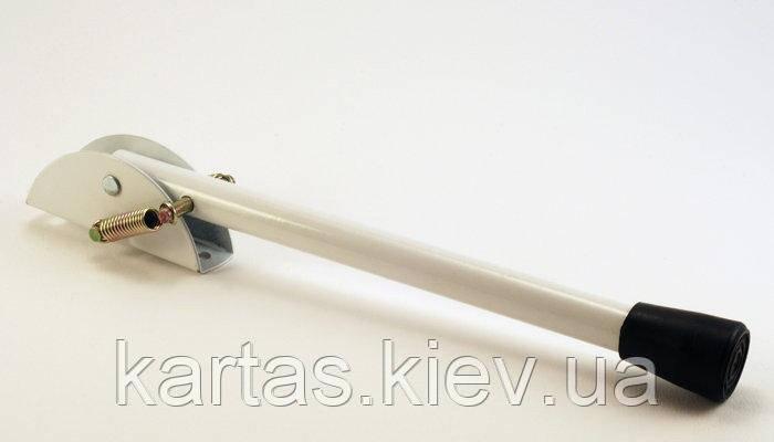 Ножка откидная для упора дверей Ø14мм. L-210мм  белая