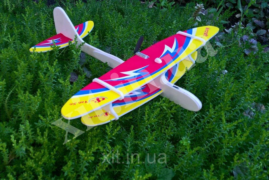 Летающий самолет на аккумуляторе, без батареек, фото 1