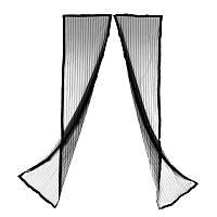Антимоскитная штора на дверь на магнитах Magic Mesh Черная