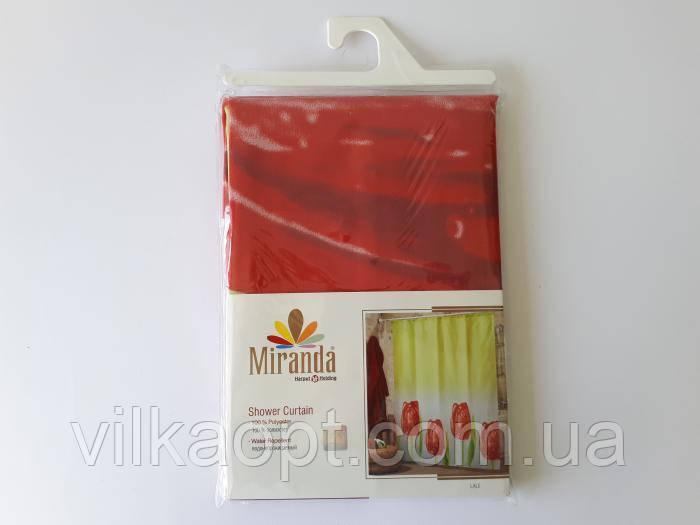 Штора для ванної тканинна Міранда 180 х 200 см кольори в асортименті, штори по квітам не відвантажуються)