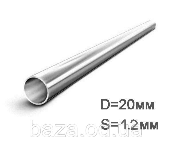Труба металева кругла міра 20x1,2 мм зварна