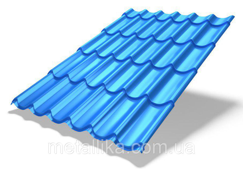 "Металлочерепица ""Monterrey Plus с 3D срезом"" (Китай, PE, 0,4 мм)"