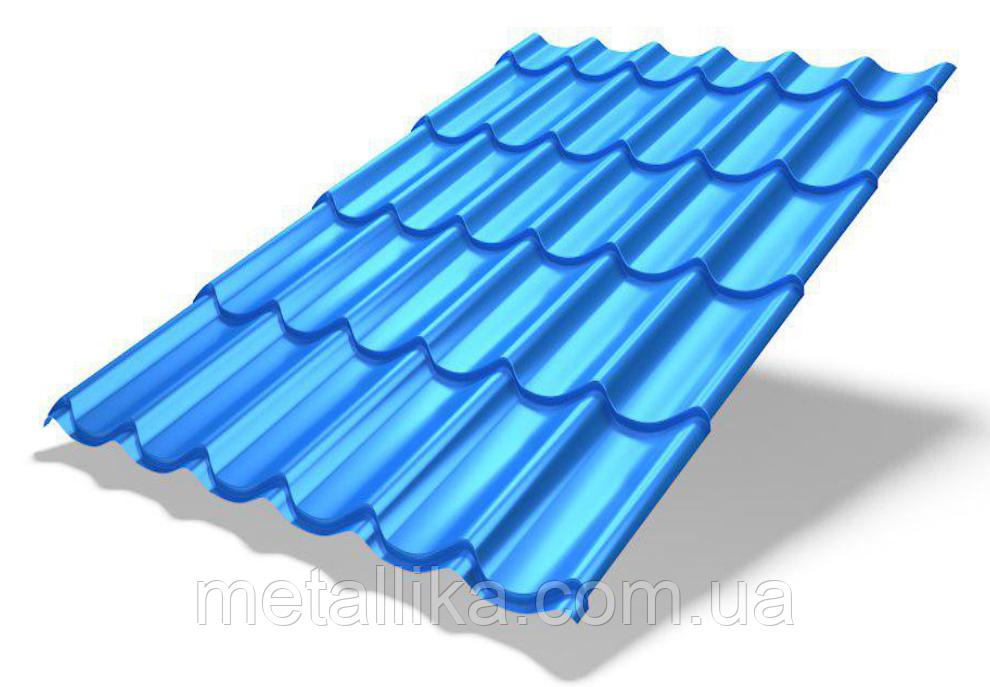 """Металлочерепица """"Monterrey Plus с 3D срезом"""" (Корея, CLOUD MATT, 0,5 мм)"""