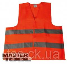 MasterTool  Жилет со светоотражающей лентой оранжевый XL, Арт.: 83-0002