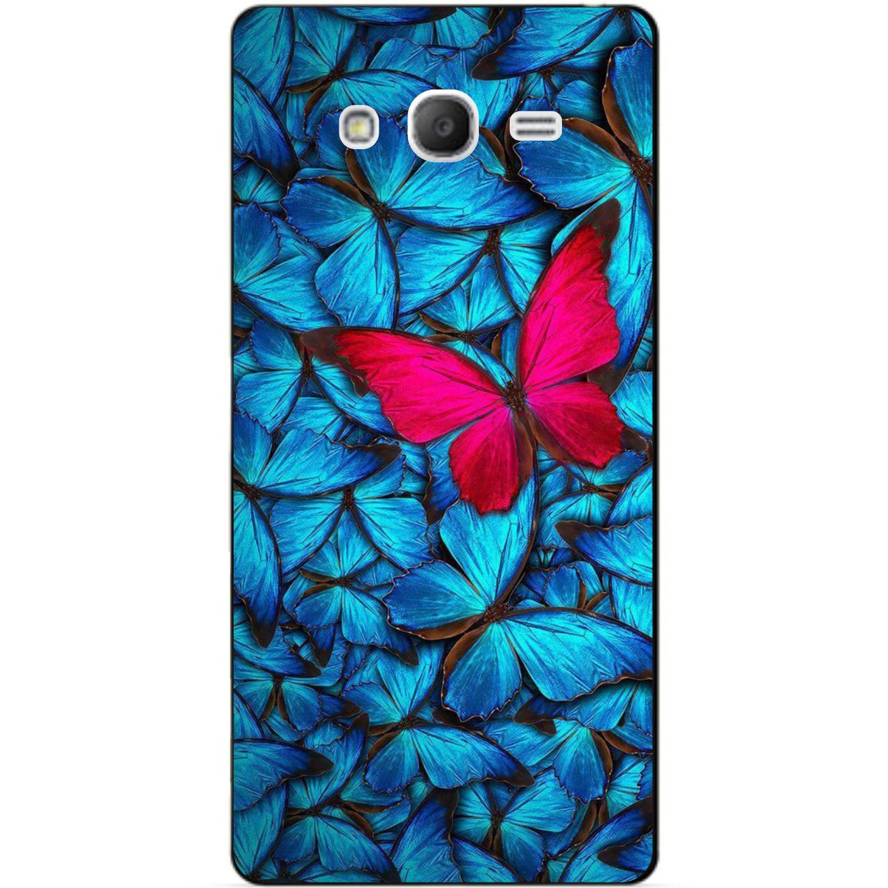 Чехол силиконовый для Samsung i9080/i9082 Galaxy Grand Duos i9060/i9062 с рисунком Мотыльки