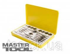 MasterTool  Набор метчиков и плашек 20 эл. М3*0,5/М4*0,7/М5*0,8/М6*1,0/М7*1,0/М8*1,25/М9*1,25/М10*1,5/М12*1,75, Арт.: 15-1420