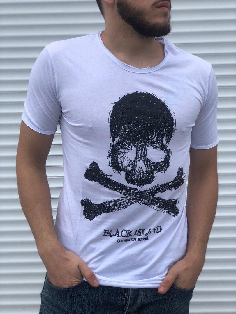 Мужская футболка Black Island (белая) - Турция