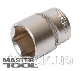 "MasterTool  Насадка торцевая 6-гранная 1/2"" 21мм CrV, Арт.: 78-0021, фото 2"
