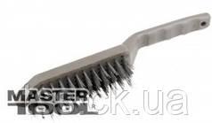 MasterTool  Щетка проволочная  5-рядная с пластиковой ручкой, Арт.: 14-5505