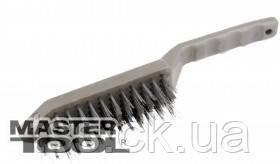 MasterTool  Щетка проволочная  5-рядная с пластиковой ручкой, Арт.: 14-5505, фото 2