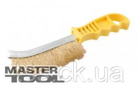 MasterTool  Щетка проволочная латунированная с пластиковой ручкой, Арт.: 14-5524, фото 2