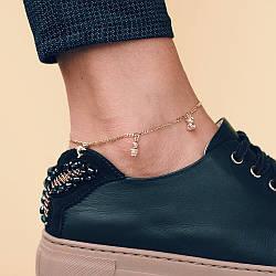 Золотой браслет на ногу б01311