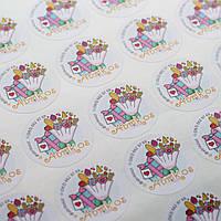 Печать наклеек, стикеров разные размеры (прайс)