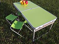 УСИЛЕННЫЙ раскладной удобный стол для пикника и 4 стула, салатовый