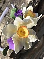 Обруч з квітами з фоамірану