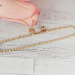 Браслет на ногу XUPING 26 см Плетение Перлина комбинированое, медицинское золото, позолота 18К