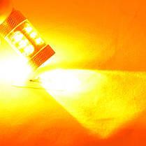 LED лампа в поворот  красного фонаря WY21W(7440)(T20) Osram 80W led Янтарный, фото 3