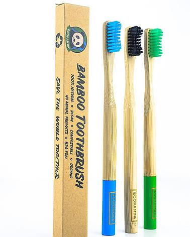 Бамбуковая зубная щетка (Ecopadna зеленая), фото 2