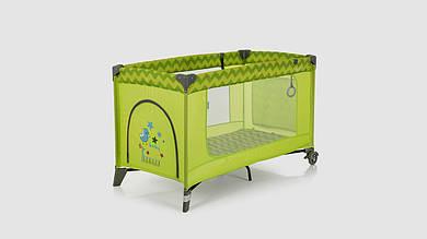 Детский манеж. EL CAMINO ME 1016 SAFE GREEN ZIGZAG. Зеленый