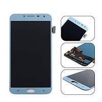 Дисплей для Samsung J400F Galaxy J4 (2018) с тачскрином голубой, Lavenda, Оригинал Amoled