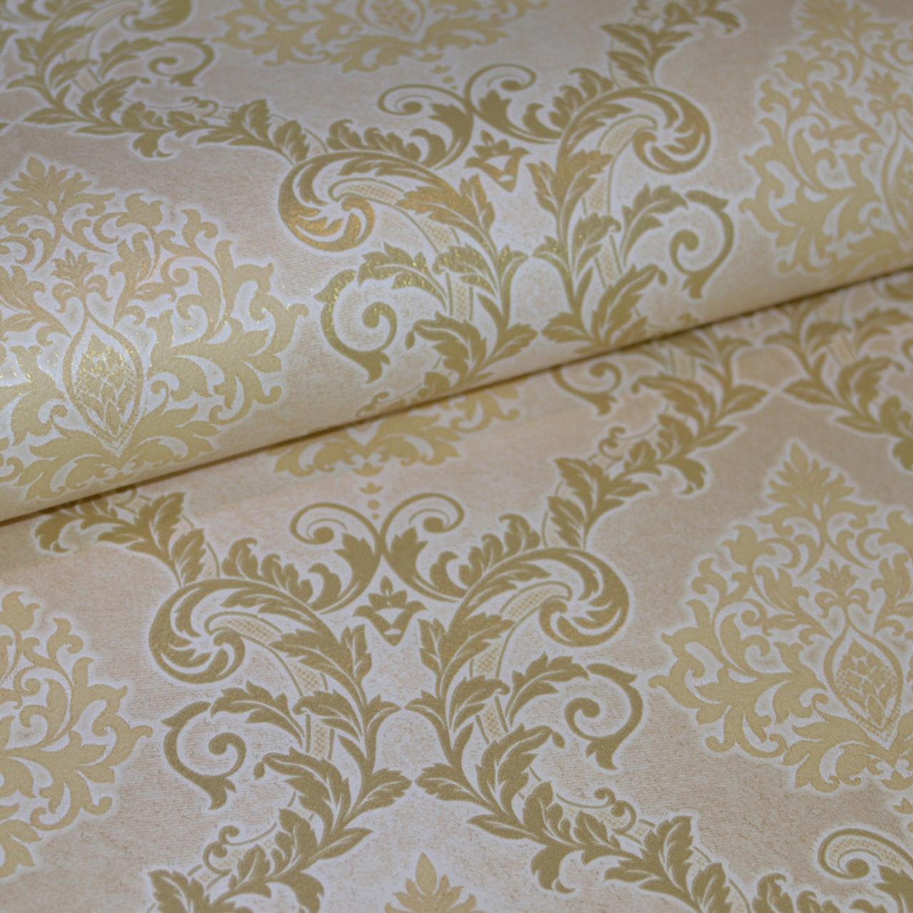 Обои, на стену, бумажные, дворцовый стиль, светлые, крупный рисунок, B27,4 Ария 6534-05, 0,53*10м
