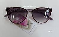 Солнцезащитные женские очки с диоптриями, очки с тонированными линзами. Модель 0638  от +1,0 до +4,0
