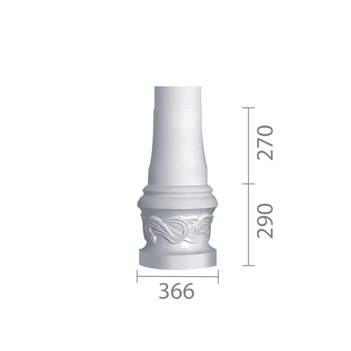 База колони з гіпсу, гіпсова база, основа для колони б-43 (1/2)