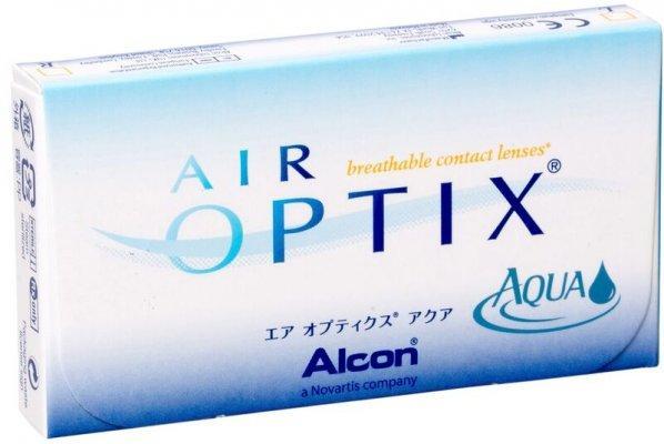 Линзы ежемесячной замены Air Optix Aqua