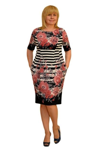 "Платье Dimoda ""Сити"" - Модель 1349-2  (замена ткани как под фото) 50   размер"