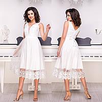 """Ніжне вечірнє плаття, плаття на весілля, розпис """"Рів'єра"""", фото 1"""