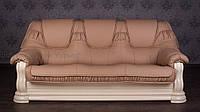 """Прямой диван в гостиную из натурального дерева """"Гризли"""", от производителя, под заказ"""