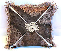 Декоративная подушка из коллекции Золотой кофе-1 эксклюзив люкс, фото 1
