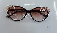 Солнцезащитные очки с диоптриями, оправа с ажурным узором. Модель 2193 коричневые