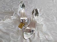 Босоножки на каблуке свадебные, выпускные